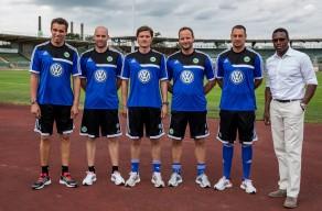 Valerien Ismael, Felix Sunkel, Rüdiger Ziehl, Norman Becker, Dustin Heun, Sportlicher Leiter Pablo Thiam (v.l.). Foto: citypress24