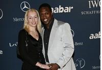 Auf dem roten Teppich: Pablo Thiam mit seiner Freundin Christina.
