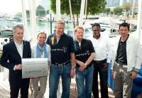 Gerhard Walter, Sabine Christiansen, Stefan Bloecher, Anders Sundt Jensen, Pablo Thiam und Michael Teuber.